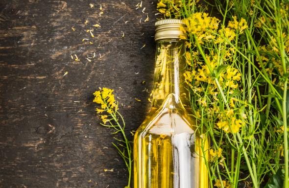 Olej rzepakowy zimnotłoczony, nierafinowany